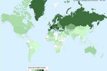 Карта стран подписавших конвецию